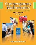 Contemporary Mathematics for Business and Consumers, Brief Edition (with CD