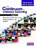 The Continuum of Literacy Learning, Grades K-8