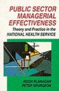 Public Sector Managerial Effectiveness Theory and Practice in the Nhs