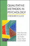 Qualitative Methods in Psychology A Research Guide