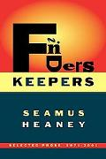 Finders Keepers Selected Prose 1971-2001