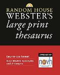 Random House Webster's Large Print Thesaurus
