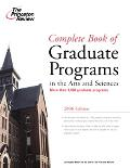 Complete Book Of Graduate Programs In The Arts And Sciences, 2006