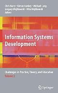 Information Systems Development: Challenges in Practice, Theory, and Education Volume 2