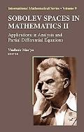 Sobolev Spaces In Mathematics Ii