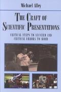 Craft of Scientific Presentations Critical Steps to Succeed and Critical Errors to Avoid