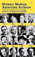 Sixteen Modern American Authors - Jr R. Bryer - Paperback - Rev. ed.
