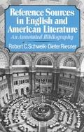 Reference Sources in English and American Literature An Annotated Bibliography