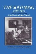 Solo Song, Fifteen Eighty to Seventeen Thirty - Carol MacClintock - Paperback