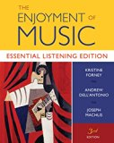 The Enjoyment of Music: Essential Listening Edition (Third Essential Listening Edition)