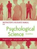 Psychological Science: Instructor's Manual