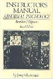Abnormal Psychology: Instructor's Manual to 2r.e