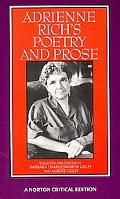 Adrienne Rich's Poetry and Prose Poems Prose Reviews and Criticism