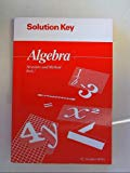Algebra Structure and Method Book 1: Solution Key Isbn 0395585325
