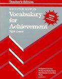Vocabulary for Achievement: 5th Course