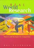 Real-World Research Sources and Strategies for Composition