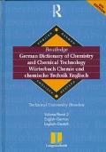 Routledge German Dictionary of Chemistry and Chemical Technology English-German