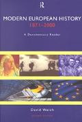Modern European History, 1871-2000 A Documentary Reader