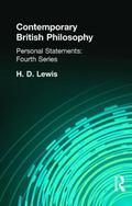 Contemporary British Philosophy Personal Statements, Fourth Series