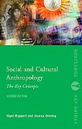 Social and Cultural Anthropology The Key Concepts