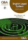 Q&A English Legal System, 2007-2008
