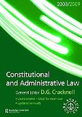 Constitutional and Administrative Law 2008-2009