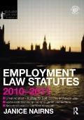 Employment Law Statutes 2010-2011