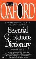 Oxford Essential Quotations Dictionary