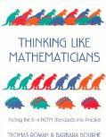 Thinking Like Mathematicians