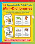 15 Reproducible Cut & Paste Mini-Dictionaries Thematic Picture Dictionaries That Help Young ...