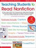 Teaching Students to Read Nonfiction 22 Easy Lessons With Color Transparencies ,High Interes...