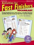 Activities for Fast Finishers Vocabulary Grades 4-8