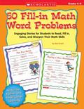 50 Fill-in Math Word Problems Grades 4-6