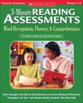 3-Minute Reading Assessments: Word Recognition, Fluency, and Comprehension: Grades 1-4 (Thre...