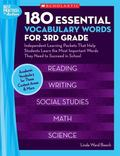 180 Essential Vocabulary Words for 3rd Grade: Independent Learning Packets That Help Student...