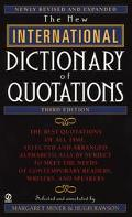 New International Dictionary of Quotations