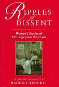 Ripples of Dissent: Women's Stories of Marriage from the 1890s