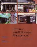 Effective Small Business Management