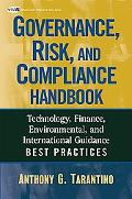 Governance, Risk and Compliance Handbook: Technology, Finance, Environmental, and Internatio...