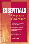 Essentials of Corporate Governance