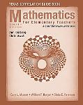 Mathematics for Elementary Teachers Texas Correlationn Guide Book: A Contemporary Approach