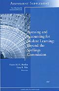 New Directions for Institutional Research, Assessment Supplement 2007