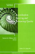 Accreditation: Assuring and Enhancing Quality, HE 145, Spring 2009