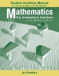 Student Activity Manual to accompany Mathematics for Elementary Teachers: A Contemporary App...