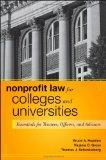 Nonprofit Law for Colleges and Universities: Essential Questions and Answers for Officers, D...