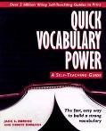 Quick Vocabulary Power A Self-Teaching Guide