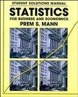 Statistics for Business and Economics, Student Solutions Manual
