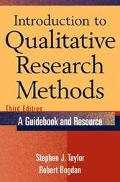 Introduction to Qualitative Research Methods A Guidebook and Resource