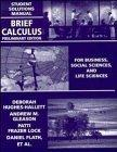 Brief Calculus, Student Solutions Manual: For Business, Social Sciences, and Life Sciences, ...