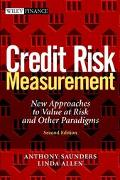 Credit Risk Measurement New Approaches to Value at Risk and Other Paradigms